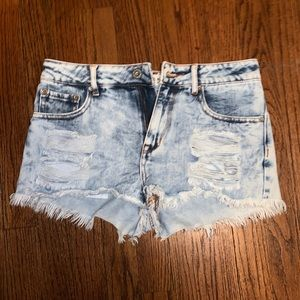 Pacsun Acid Wash High Rise Denim Shorts
